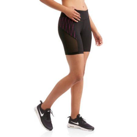 N.Y.L. Sport Women's Performance Bike Shorts With Contrast Lasercut Insert, Size: Small, Purple