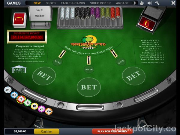 free slots online for fun caribbean stud