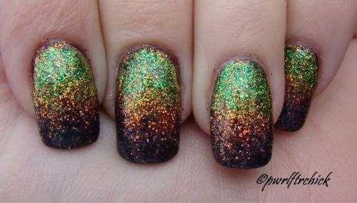 cascade, nail art