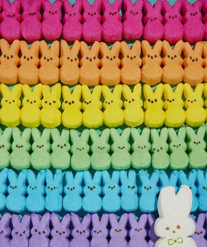 7 Insanely Creative Ways You Can Decorate With Peeps | Simple crafts that take Peeps from candy basket must-have to captivating Easter decor.