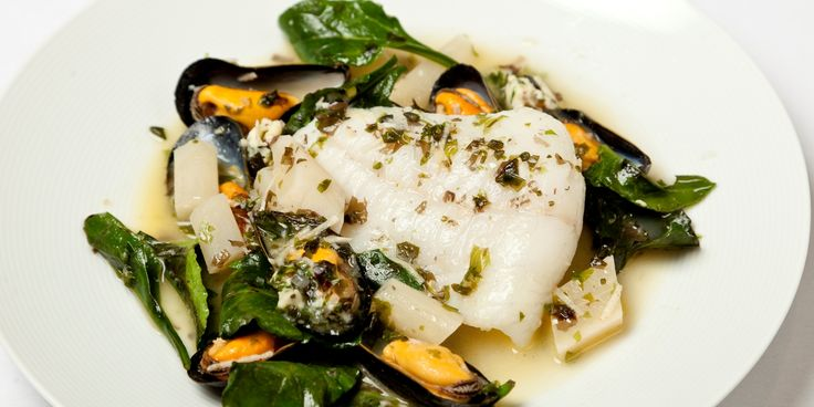 An exquisite turbot dish from Richard Corrigan contains mussels, salsify and sea vegetables - a wonderful option for the colder months