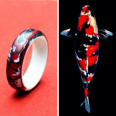 I'm a designer and ring maker in Malaysia. This is a ring I recently made inspired from showa koi