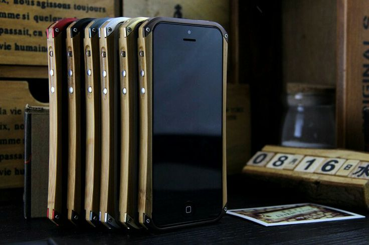 Wood and metal iPhone case by miCase.gr