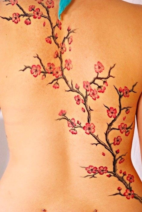 Cherry blossom tattoo - I like the simple yet detailed look