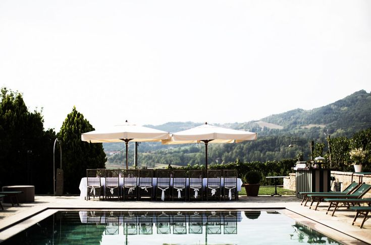 Boutique hotel and vineyard in Piedmont, Italy.