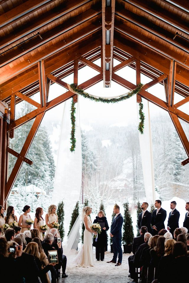 beautiful wedding places in northern california%0A Incredible winter wedding ceremony  Nita Lake Lodge under our beautiful  PorteCochere Photo collection