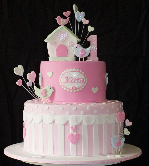 birdie cake by judy cakes, via Flickr