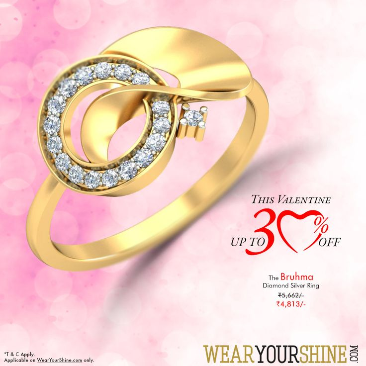 """Valentine Sterling Specials Rock the statement with this ever-so-beautiful """"Bruhma Diamond Ring"""" this Valentine  Shop this beauty here : http://goo.gl/hlNECA  #Valentine #Special #ROPOSO #PCJeweller #Diamonds #Rings #Silver  #Shine #Fashion #Trends #SoRoposo #sterling"""