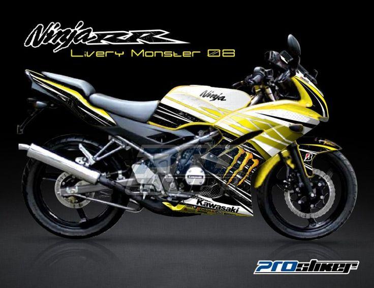 Stiker Motor Kawasaki Ninja 150RR Kuning   Livery Monster 08