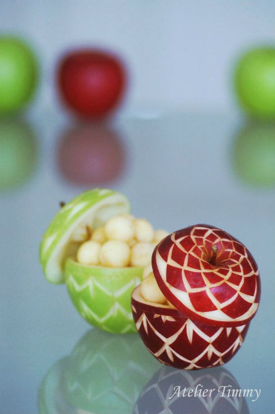 Apple salad cup  by Atelier Timmy