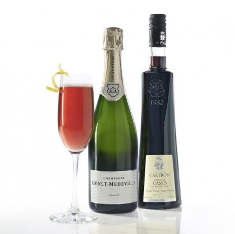 The Kir Royale - try it with Joseph Cartron Creme De Casis and your choice of Sparking Wine.