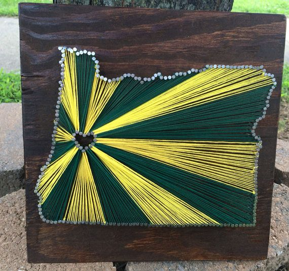 "Oregon string art. I want to add the ""O"" in the middle instead of the heart."