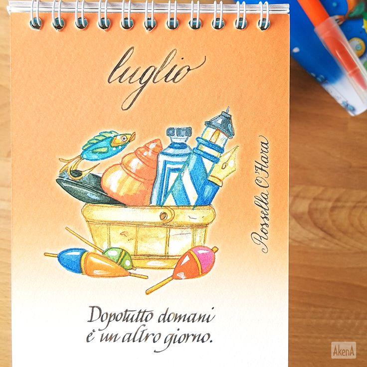 """""""Dopotutto domani è un altro giorno"""" - Rossella O'Hara a luglio sul calendario Setteparole 2017"""