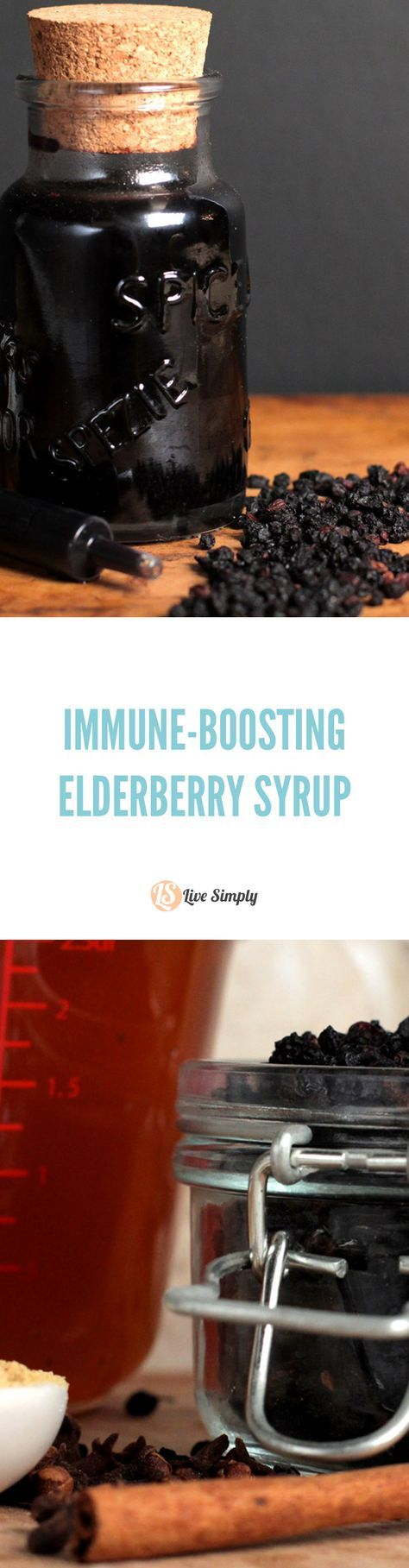 Homemade elderberry syrup is so easy to make and costs pennies compared to store-bought syrup! Plus, you can add this to salads, popsicles, yogurt, and even smoothies for an immune-loving boost. Step-by-step tutorial with super easy to follow directions.