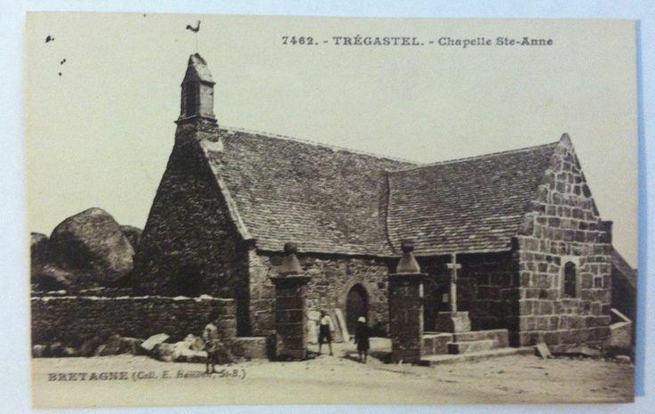 BRITTANY Tregastel FRANCE Postcard - 1900's Chapelle Ste-Anne. Bretagne