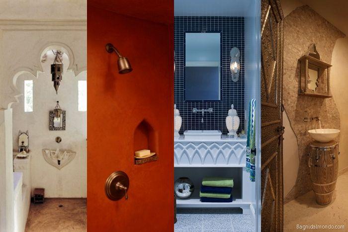 Arredare il bagno in stile marocchino con colori caldi, ambientazioni esotiche, legno scuro e odore di incenso.