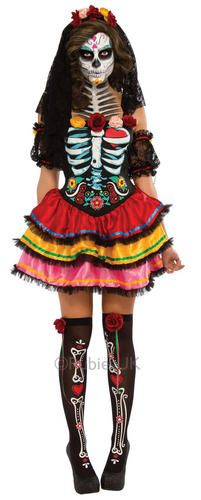 Day-of-the-Dead-Senorita-Ladies-Fancy-Dress-Halloween-Skeleton-Womens-Costume