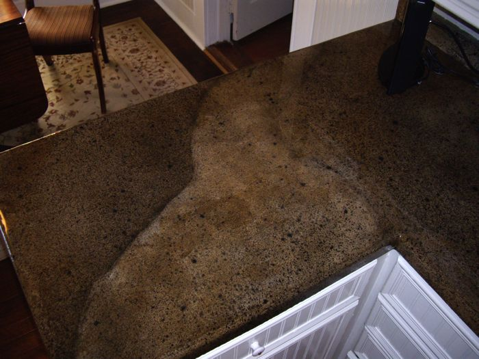 Cost Of Concrete Countertops | Kitchen Area With Granite Theme.