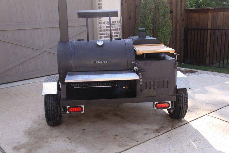 Custom Smoker Grill Trailer - Tailgate Professional #Custom