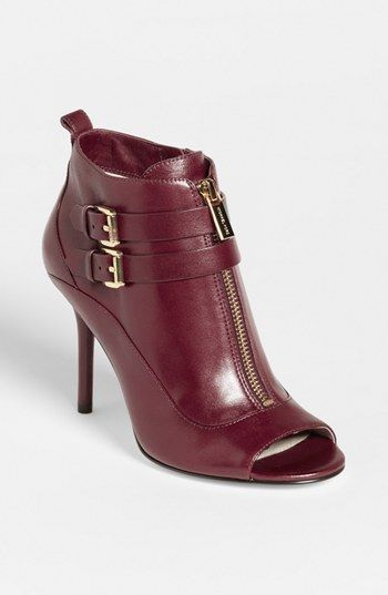 MICHAEL Michael Kors 'Brena' Open Toe Bootie | Nordstrom ~ not really my style but really love the color