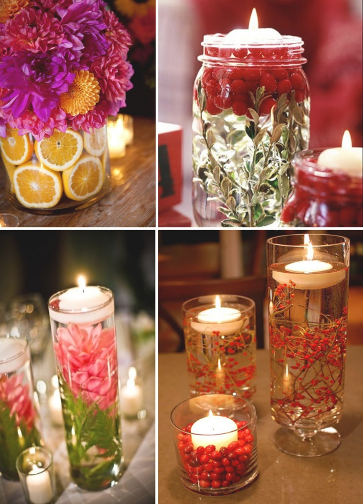 christmas candle centrepieces