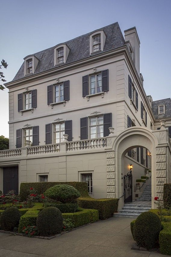 This nine-bedroom mansion on Pacific Avenue in San Francisco  is on the market. The house, originally built in 1905, was designed by San Francisco architects Bliss & Faville. ~ wsj.com