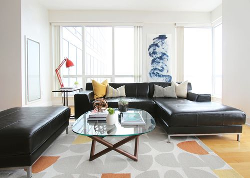 Smart Ny Studio Bright With Some Pops Of Color Designed