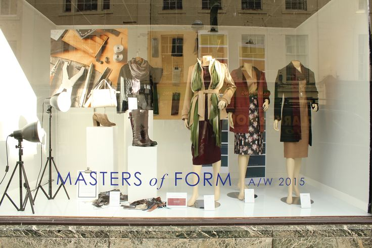 A/W 2015 MASTERS of FORM Our theme this Autumn centres on the art of manufacture & making. From humble beginnings to gorgeous product, the windows exalt the everyday and make your possessions pedestal worthy pieces with their own story to tell.