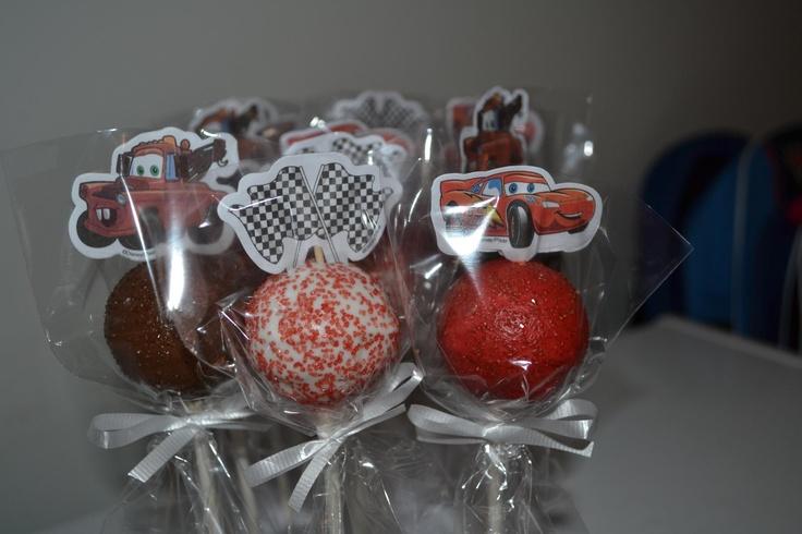 Lollipop sz cars cake pops