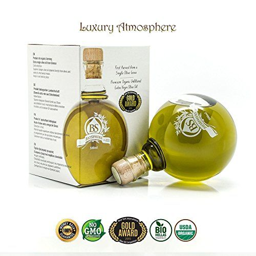 Greek Organic Premium Unfiltered Extra Virgin Olive Oil - Gold Award-winning of Nyiooc 2015 - Comes in a Gift Box - 500 Ml (Biosphere) NOOS TRADE