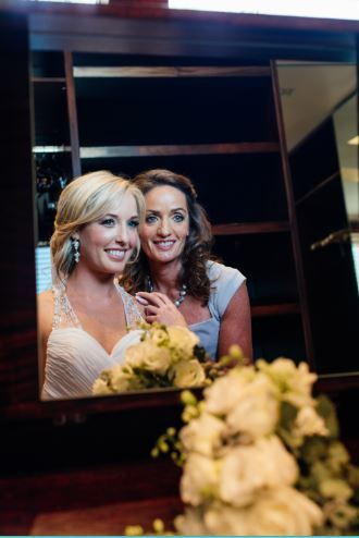 Special moment of the bride and her mom.  ~ Image Property of Darren Bester Photography