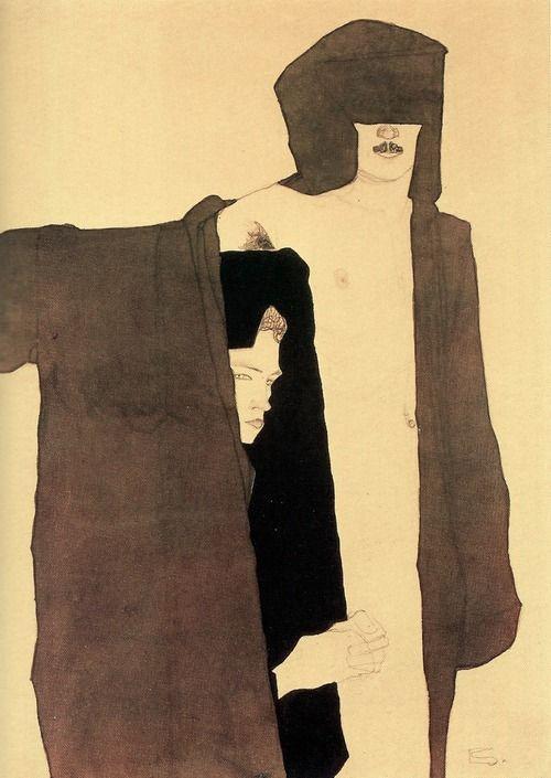 Egon Schiele, Paar, 1909