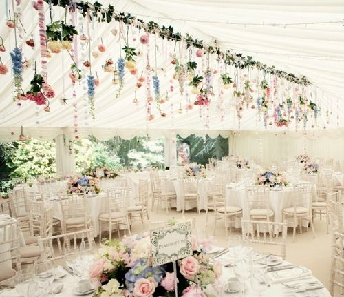 Marque dcoration beautiful wedding marquee inspiration exploder hanging flowers and bits more decorations for junglespirit