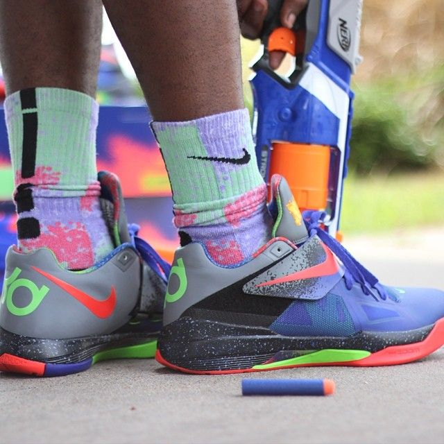 Quite possibly the best KDs of all time, @police_nupe rocks the Nike KD4