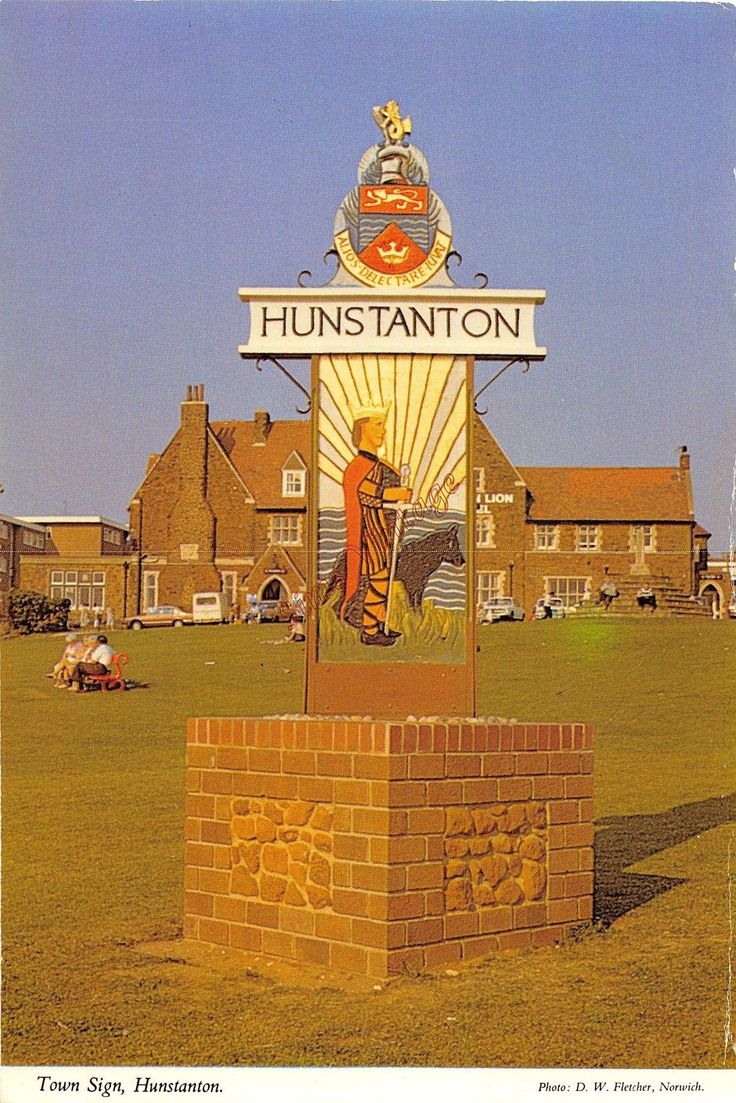 Norfolk Postcard Hunstanton Town Sign G0 039   eBay