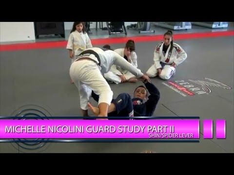 Study's use on Michelle Nicolini's levering strategy off shin/spider hybrid guard