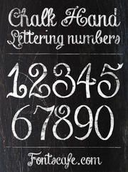 """Chalk Hand Lettering Numbers"" font"