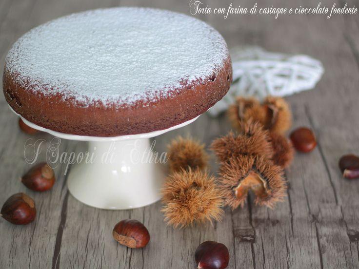 Torta con farina di castagne e cioccolato fondente
