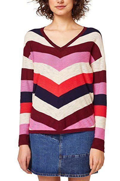 edc by ESPRIT Damen Pullover 028CC1I006, Rot (Bordeaux Red 600), X-Small -  Pullover pulli pullis polover pullunder pullis pu…   Pullover Trends Frauen  in ... b06f513aaa