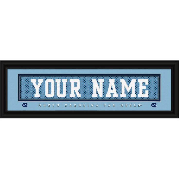 "North Carolina Tar Heels 8"" x 24"" Personalized Nameplate"