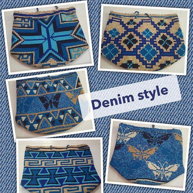 Wayuu Mochila bag blues #wayuutribe #wayuubags #wayuustyle #wayuu