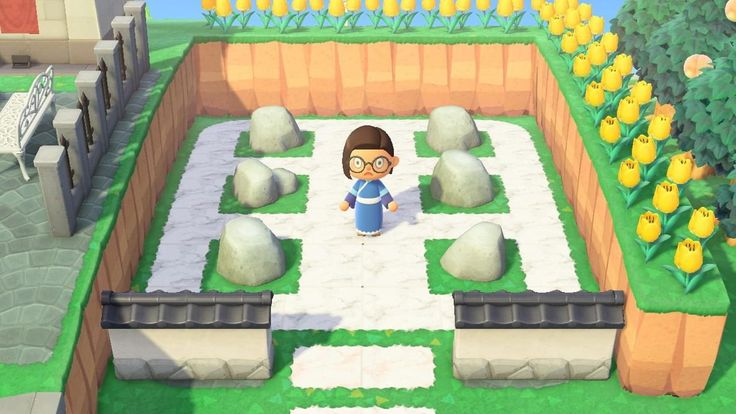animal crossing new horizons ROCK GARDEN in 2020 | Animal ...