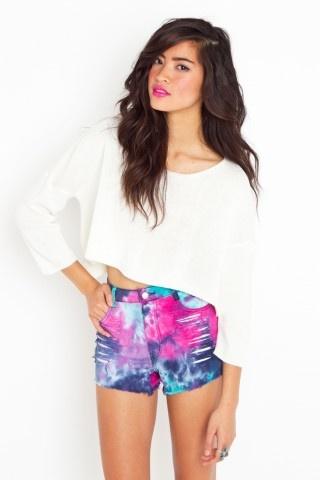 Must tie-dye shorts!Blair Style, Tiedie Shorts, Ties Dyes Shorts, Dyes Inspiration, Tie Dye Shorts, Cutoff Shorts, Ties Dyed, Cutoffs Shorts, Tye Dye