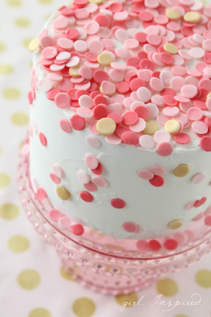 So pretty! Fondant Confetti Sprinkle Cake | Find this fondant cake recipe at @joannstores