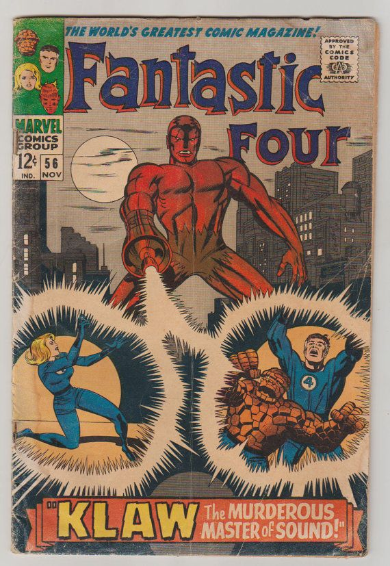 Fantastic Four Vol 1 56 Silver Age Comic by RubbersuitStudios