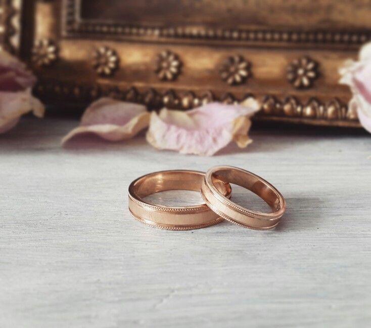 Wedding ring. Gold. Обручальные кольца из рыжего золота.