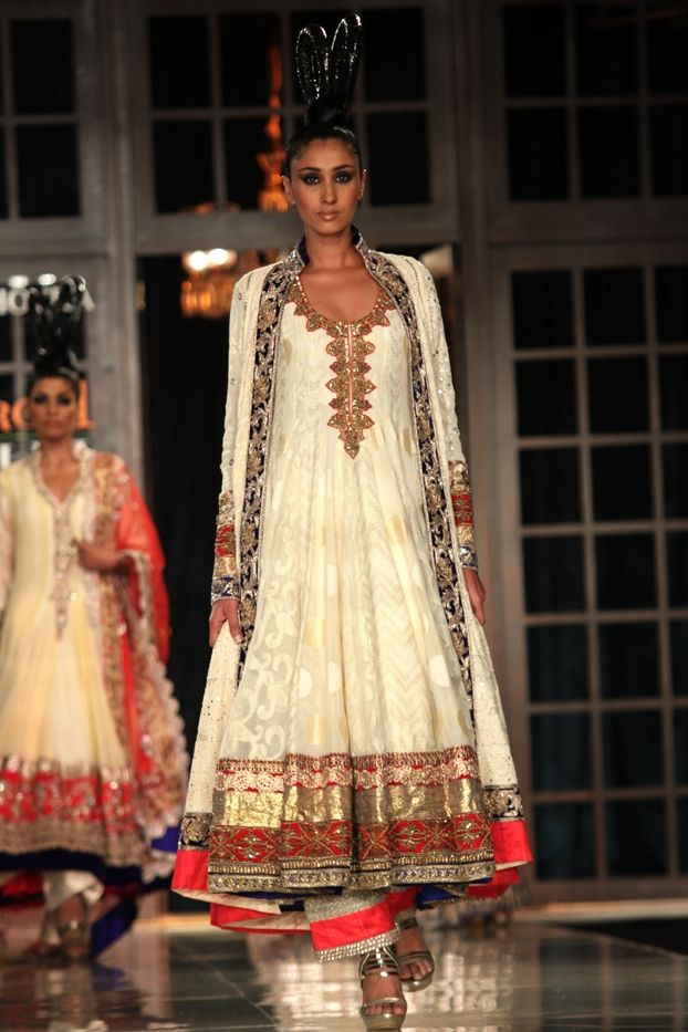 Manish Malhotra's new collection of anarkalis. Check it out only on: http://www.vogue.in/content/delhi-couture-week-who-what-wear#37