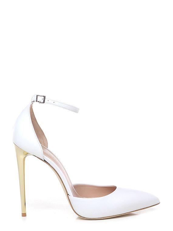 Scarpe Sposa Shop On Line.Scarpa Con Tacco Bianco Sergio Levantesi In 2020 Heels Shoes