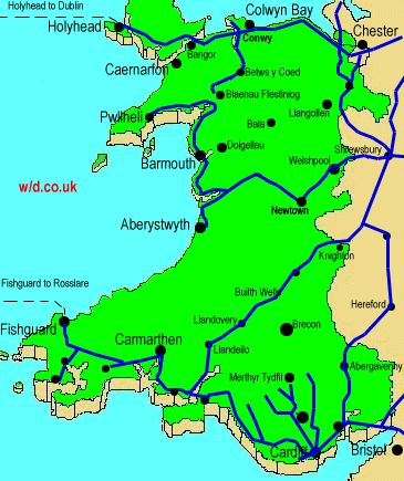 Railway Map of Wales