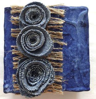 Win Dinn Art, Etc.: You've had your sneak peek...  Blue Jean Nosegay